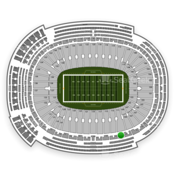 Green Bay Packers at Lambeau Field Section 411 View