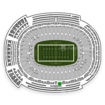 Green Bay Packers at Lambeau Field Section 417 View