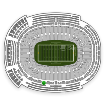 Green Bay Packers at Lambeau Field Section 425 View