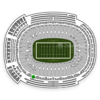 Green Bay Packers at Lambeau Field Section 429 View