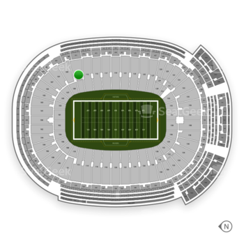 Green Bay Packers at Lambeau Field Section 111 View