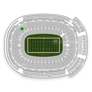 Green Bay Packers at Lambeau Field Section 107 View