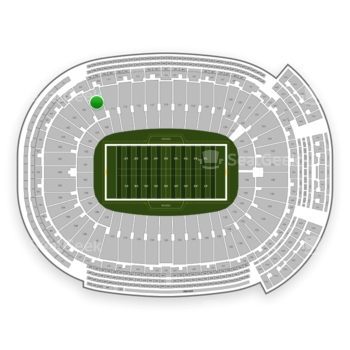 Green Bay Packers at Lambeau Field Section 109 View