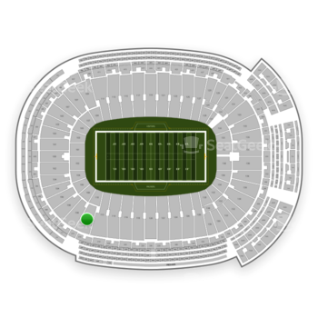 Green Bay Packers at Lambeau Field Section 110 View