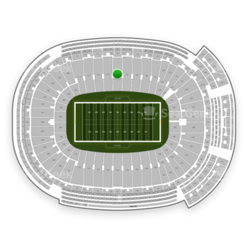 Green Bay Packers at Lambeau Field Section 119 View