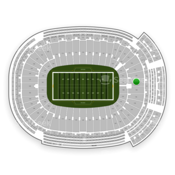 Green Bay Packers at Lambeau Field Section 137 View