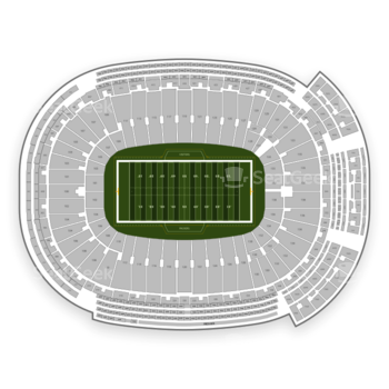 Green Bay Packers at Lambeau Field Section 23 View