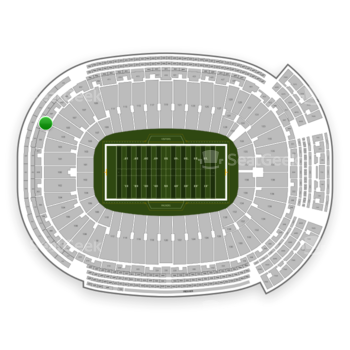 Green Bay Packers at Lambeau Field Section 305 View