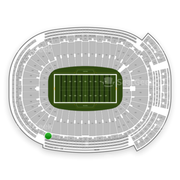 Green Bay Packers at Lambeau Field Section 316 View