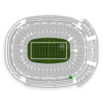 Green Bay Packers at Lambeau Field Section 336 View
