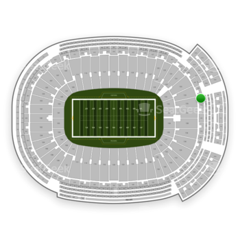 Green Bay Packers at Lambeau Field Section 351 View