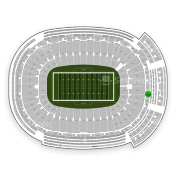 Green Bay Packers at Lambeau Field Section 352 View