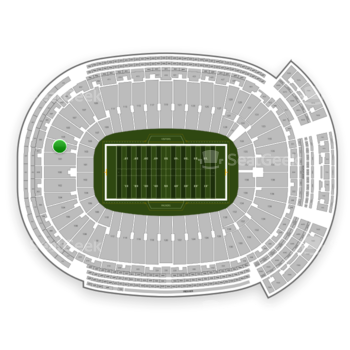 Green Bay Packers at Lambeau Field Section 103 View
