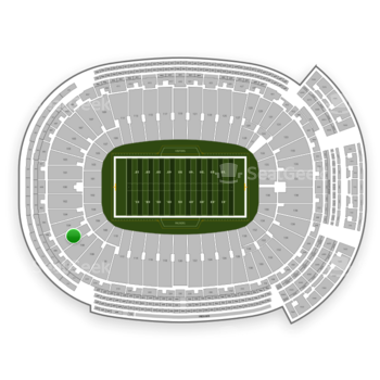 Green Bay Packers at Lambeau Field Section 106 View