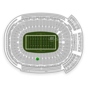 Green Bay Packers at Lambeau Field Section 118 View