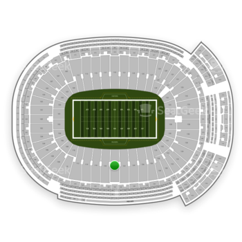 Green Bay Packers at Lambeau Field Section 120 View