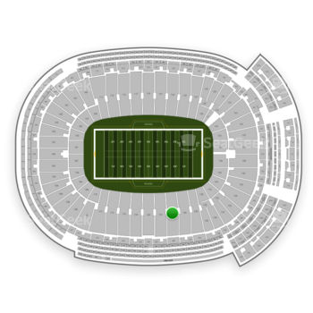 Green Bay Packers at Lambeau Field Section 124 View