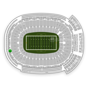 Green Bay Packers at Lambeau Field Section 304 View