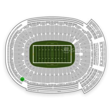 Green Bay Packers at Lambeau Field Section 312 View