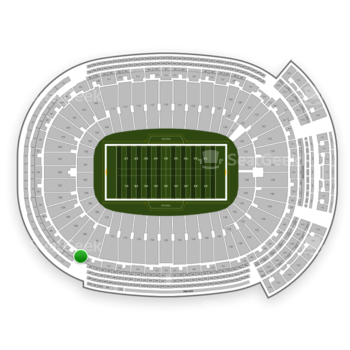 Green Bay Packers at Lambeau Field Section 314 View