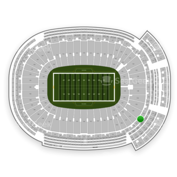 Green Bay Packers at Lambeau Field Section 344 View