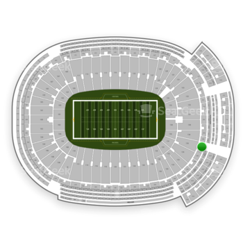 Green Bay Packers at Lambeau Field Section 348 View
