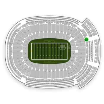 Green Bay Packers at Lambeau Field Section 349 View