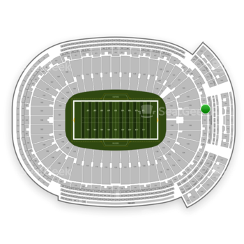 Green Bay Packers at Lambeau Field Section 353 View