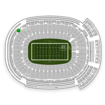 Green Bay Packers at Lambeau Field Section 403 View