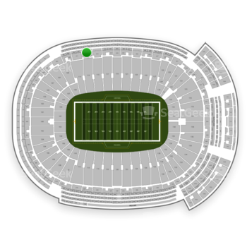 Green Bay Packers at Lambeau Field Section 413 View