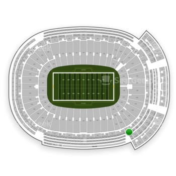 Green Bay Packers at Lambeau Field 432 S View