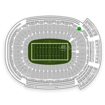 Green Bay Packers at Lambeau Field Section 433 View