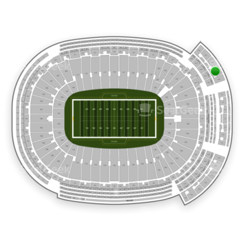Green Bay Packers at Lambeau Field Section 741 S View