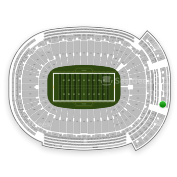 Green Bay Packers at Lambeau Field Section 744 S View