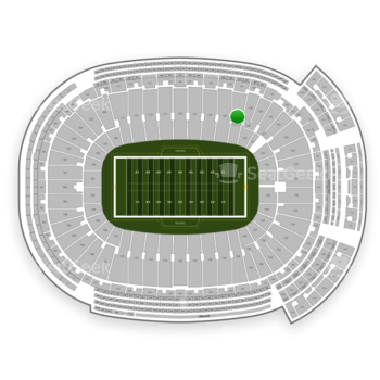 Green Bay Packers at Lambeau Field Section 127 View