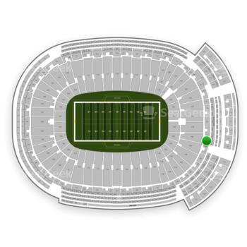 Green Bay Packers at Lambeau Field Section 350 View