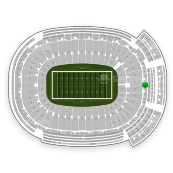 Green Bay Packers at Lambeau Field Section 354 View
