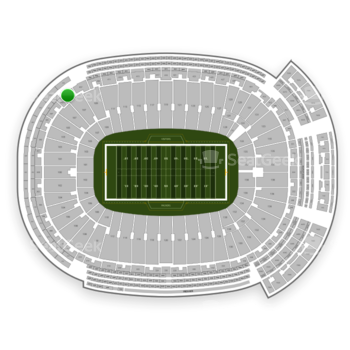 Green Bay Packers at Lambeau Field Section 405 View
