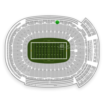 Green Bay Packers at Lambeau Field Section 423 View