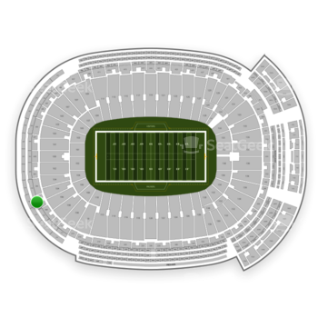 Green Bay Packers at Lambeau Field Section 476 View