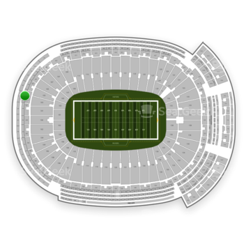 Green Bay Packers at Lambeau Field Section 486 View