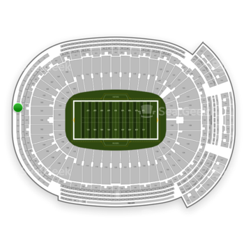 Green Bay Packers at Lambeau Field Section 684 View