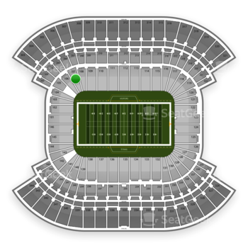 Tennessee Titans at LP Field Section 107 View