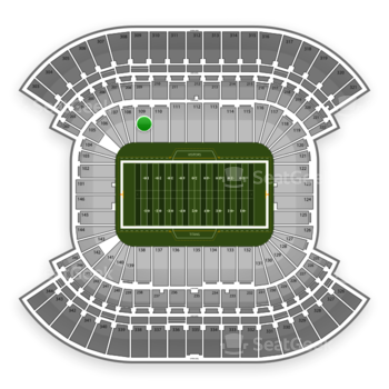 Tennessee Titans at LP Field Section 109 View