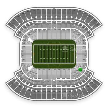 Tennessee Titans at LP Field Section 128 View