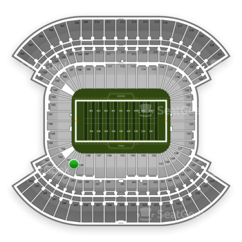 Tennessee Titans at LP Field Section 140 View