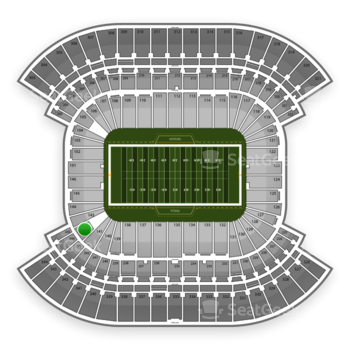 Tennessee Titans at LP Field Section 142 View