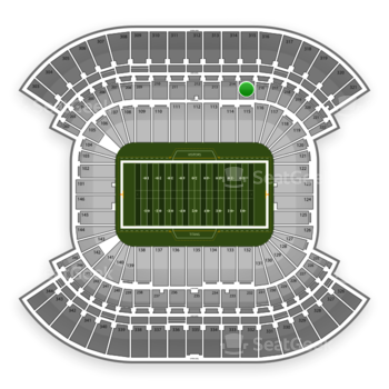 Tennessee Titans at LP Field Section 215 View