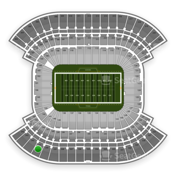 Tennessee Titans at LP Field Section 341 View