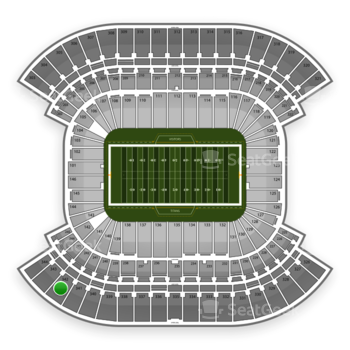 Tennessee Titans at LP Field Section 342 View